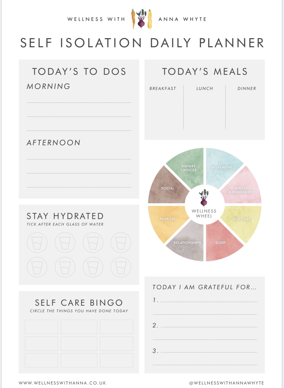 SI daily planner blank